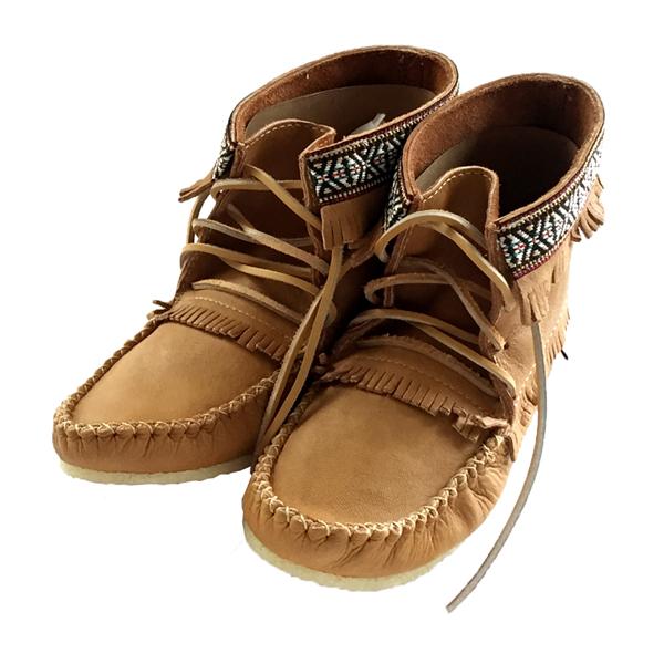 fce235ece Men's Cork Moosehide Moccasin Boots Crepe Sole 137597 M-cork ...